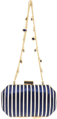 Reiss Brook Hard Case Clutch With Enamel Disc Chain