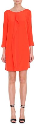 Tibi Silk 3/4 Sleeve Draped Dress