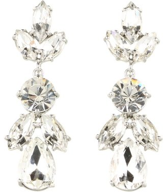Kate Spade Crystal Petals - Bridal Drop Earrings (Clear/Silver) - Jewelry