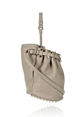 Alexander Wang Diego In Soft Oyster With Pale Gold