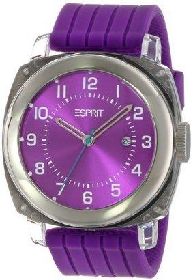 ESPRIT Unisex ES900631004 Purple Cube Classic Fashion Analog Wrist Watch $49 thestylecure.com