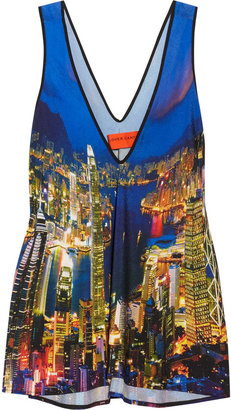 Clover Canyon City Skyline printed georgette tank