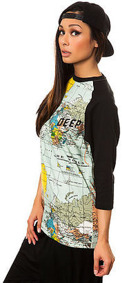 10.Deep The Slope Baseball Tee in Maps