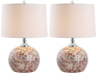 Safavieh 2-pc. Nikki Shell Table Lamp Set