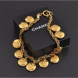 Chanel excellent (EX) Vintage Gold Tone CC Logo Chain Necklace