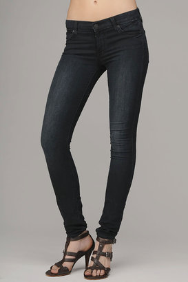 7 For All Mankind The Skinny Second Skin Legging Jean In Featherweight Blue Black