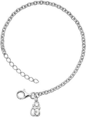 Little Diva Diamonds Sterling Silver Diamond Accent Cat Bracelet - Kids