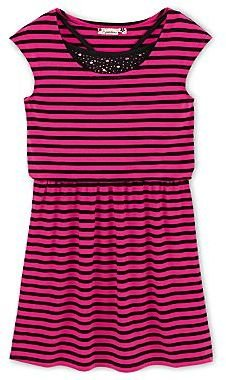 Speechless Striped Dropwaist Dress - Girls 6-16