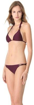 Sangria Pilyq Braided Bikini Top
