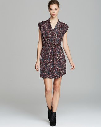 AQUA Dress - Neon Tweed Cross Front