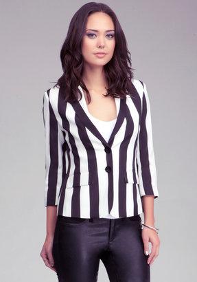 Bebe Two Button Stripe Blazer