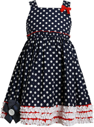 Bonnie Jean Kids Dress, Little Girls Polka Dot Americana Dress