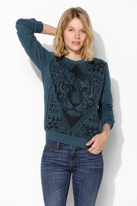 Truly Madly Deeply Tiger Face Pullover Sweatshirt