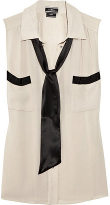 By Malene Birger Laurensa necktie crepe blouse