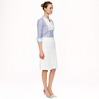 J.Crew Patch-pocket skirt in stretch cotton