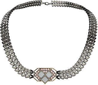 Topshop V Link Stone Necklace