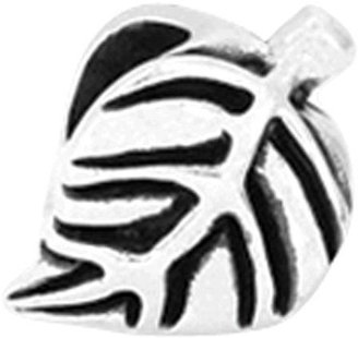 Prerogatives Sterling Leaf Design Bead