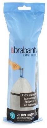 Brabantia Slimline Bin Liners, 51⁄4 Gallon