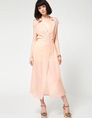 Three Floor Role Model Maxi Trench Dress