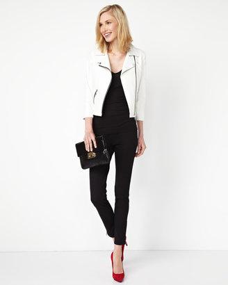 Paperwhite Zip-Cuff Pull-On Pants, Black