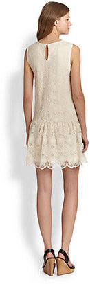 Ella Moss Hanalei Dropped-Waist Crocheted Lace Dress
