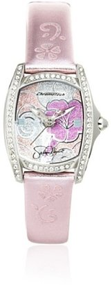 Hello Kitty CT.7094SS-13 Stainless Steel Pink Leather Watch $12.49 thestylecure.com