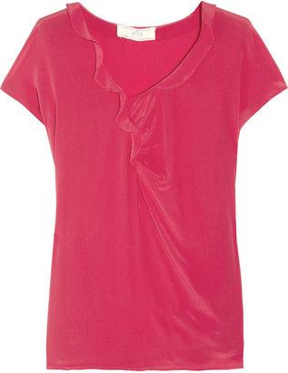 Vanessa Bruno Ruffled silk-crepe top