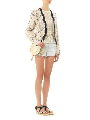 Vanessa Bruno Floral cotton-blend open jacket