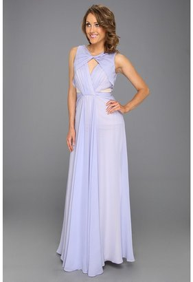 Badgley Mischka Cut-Out Runway Evening Gown (Lavender) - Apparel
