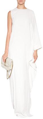 Elie Saab Asymmetric Gown in Ivory