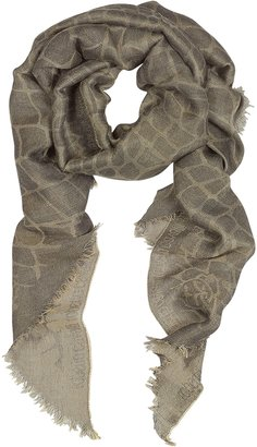 Roberto Cavalli Animal Print Viscose and Modal Long Scarf