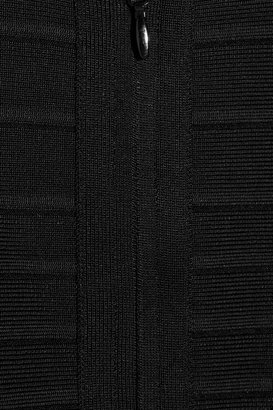 Herve Leger Cutout-shoulder bandage dress