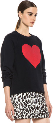 MSGM Heart Sweater in Navy