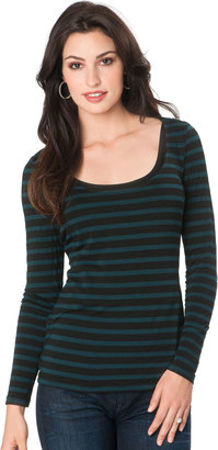 A Pea in the Pod Long Sleeve Pull Down Button Detail Nursing Top