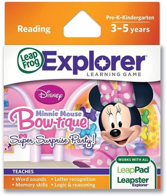 Leapfrog Disney Mickey Mouse & Friends Minnie Mouse Bow-tique Super Surprise Party! Explorer Learning Game by