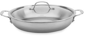"""Calphalon Tri-Ply Stainless Steel 12"""" Everyday Pan with Lid"""