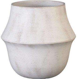 Crate & Barrel Bell White Pot
