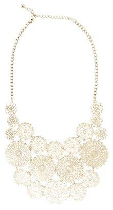 BCBGMAXAZRIA Floral Filigree Necklace