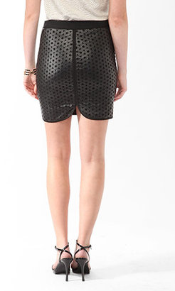 Forever 21 Cutout Circles Skirt