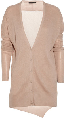 Alexander Wang Ribbed silk and alpaca-blend cardigan