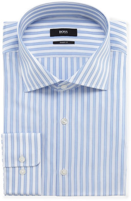HUGO BOSS Miles Striped Dress Shirt, Bright Blue