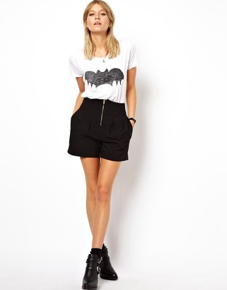 Asos High Waisted Shorts with Zip Front