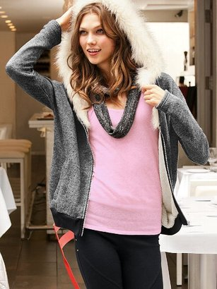 Victoria's Secret Supermodel Essentials French Terry Faux-fur Hoodie