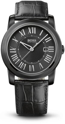 HUGO BOSS '1512715' | Two-Texture Leather Strap Watch by BOSS