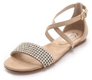 KORS Adia Jeweled Flat Sandals