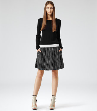 Reiss Houston KNIT AND JERSEY DRESS