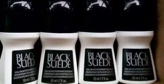 Set of 4 Avon Black Suede Roll-On Anti-Perspirant Deodorant Rolls $8.95 thestylecure.com