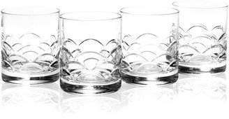 Reed & Barton Drinkware, Set of 4 Cove Double Old-Fashioned Glasses