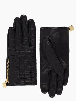 Kate Spade Quilted logo glove