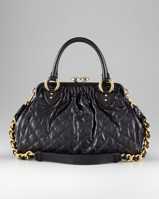 Marc Jacobs Stam Quilted Satchel Bag, Black